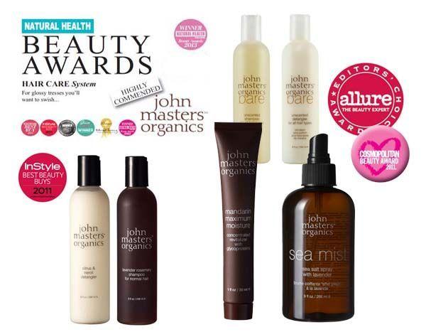 Premios para la cosmética natural John Masters Organics