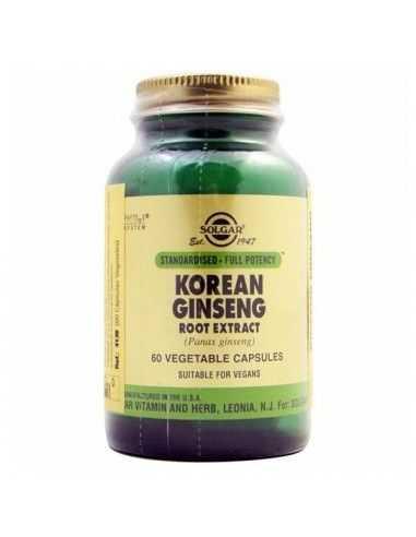 ginseng coreano raíz (panax ginseng) 60 cápsulas vegetales