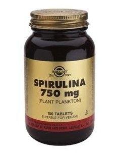 espirulina 100% hawaiana 750 mg. 100 comprimidos