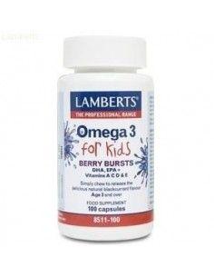 OMEGA 3 para niños (Sabor grosella) 100cápsulas