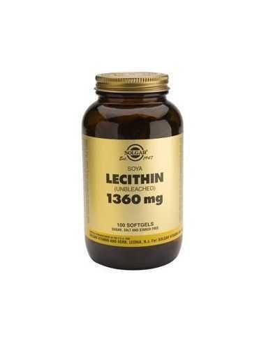 lecitina de soja 1360 mg 100 perlas