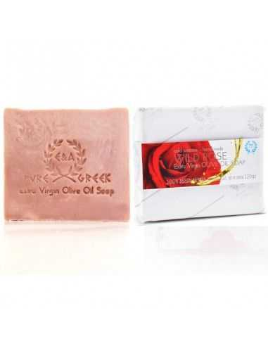Jabón artesanal de rosas silvestres 120 gr Papel