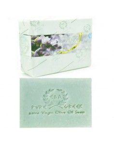 Jabón artesanal de lavanda de Creta 120 gr Papel