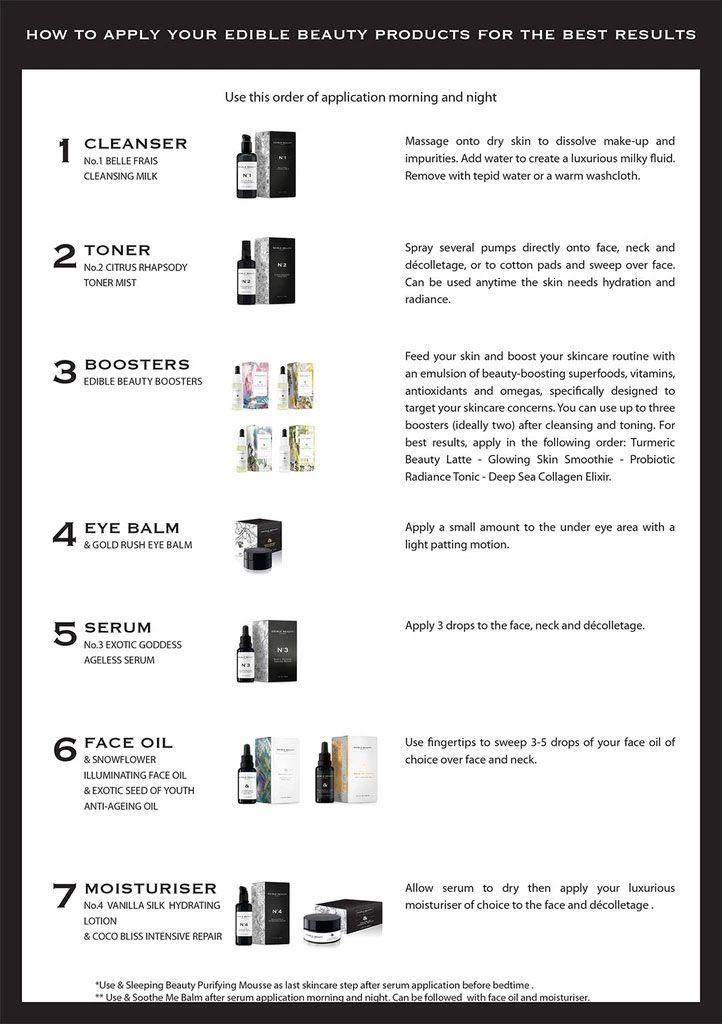 Cómo usar los productos EDIBLE BEAUTY